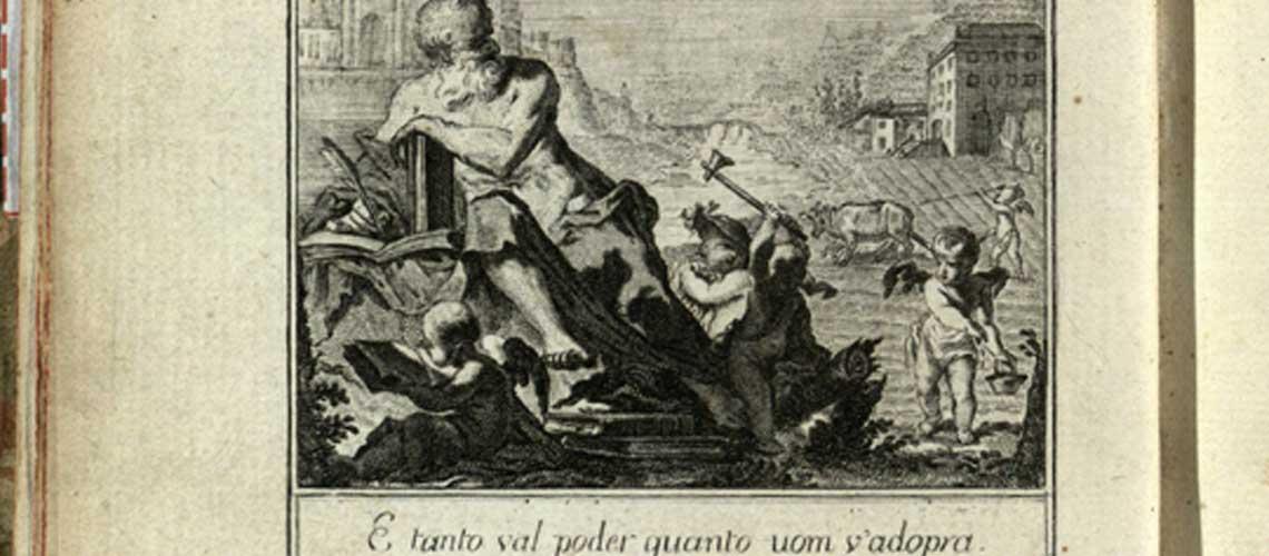 Gizzardi, A.  Antiporta calcografica su disegno di Visca dell'edizione Il podere di Luigi Tansillo. Torino, 1769