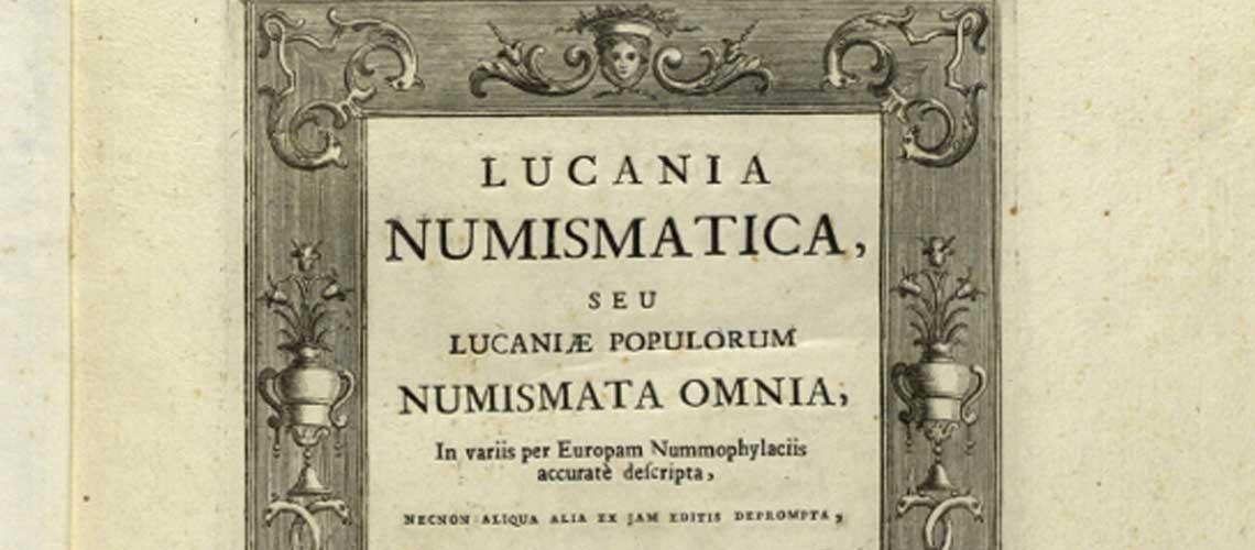 Magnan, D. Lucania numismatica. Roma, 1775