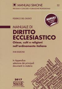 Manuale di diritto ecclesiastico : chiese, culti e religioni nell'ordinamento italiano