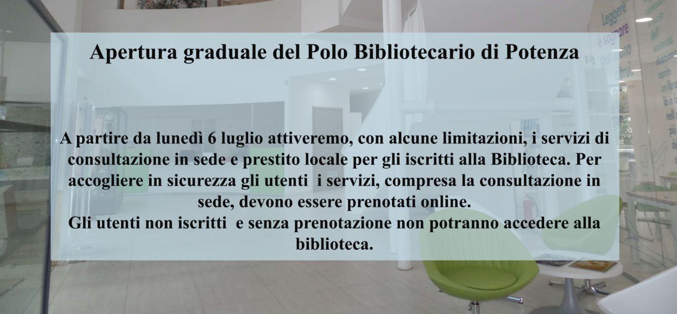 Apertura graduale polo bibliotecario