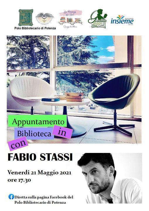 Fabio Stassi incontra on line i lettori del Polo Bibliotecario